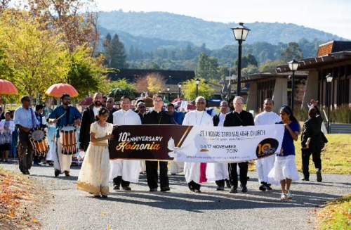 സാന്ഫ്രാന്സിസ്കോ സെന്റ് തോമസ് ദേവാലയ ദശവര്ഷാഘോഷങ്ങള് വര്ണ്ണാഭമായി